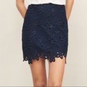 New Abercrombie & Fitch blue lace skirt